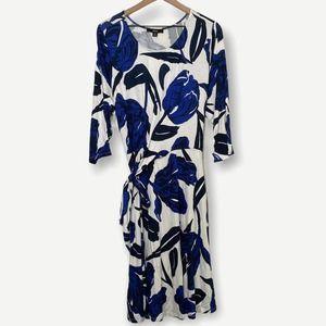 Ellos Blue Floral Faux Wrap Dress 18/20 NWT